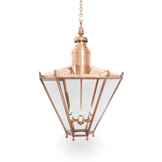 Large Copper Lantern For Sale In New York - Image 6 of 6