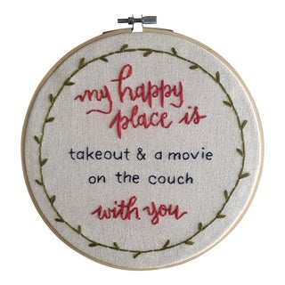 """""""My Happy Place"""" Textile Art"""
