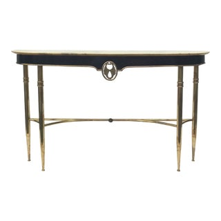 1960s Italian Brass Console Table For Sale