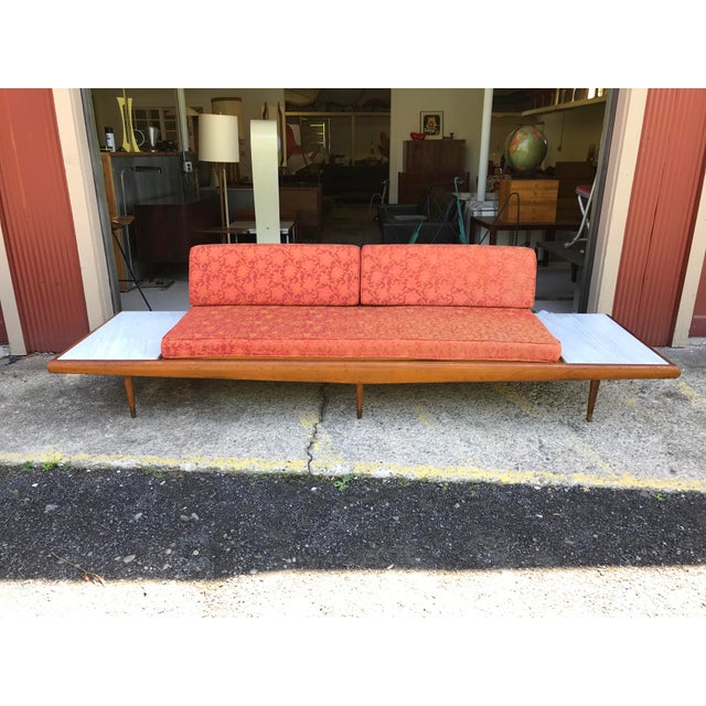 "113""wide Pearsall Style Sofa Daybed Marble Mid Century Modern Yugoslavia - Image 11 of 11"