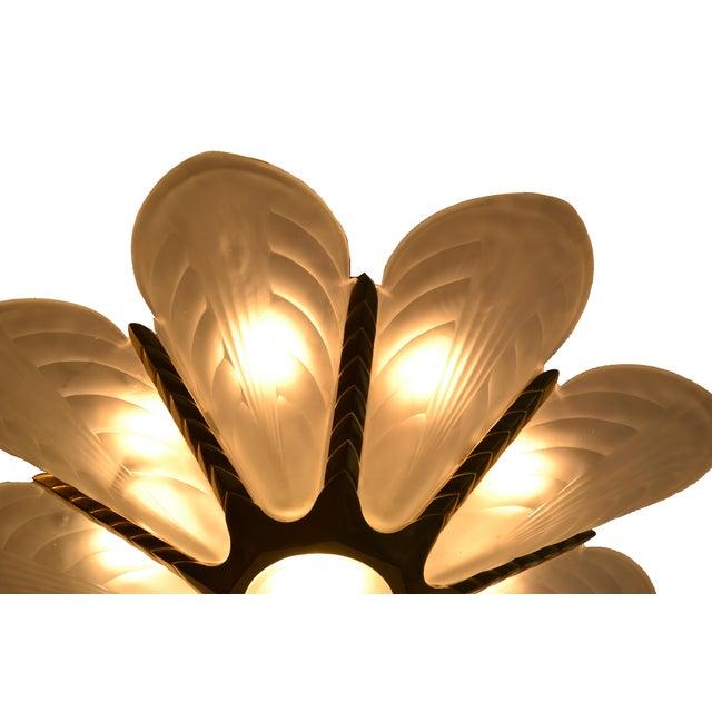 Lovely french art deco slip shade chandelier decaso french art deco slip shade chandelier image 5 of 7 aloadofball Gallery
