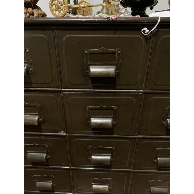 Industrial Industrial Metal File Cabinet For Sale - Image 3 of 4