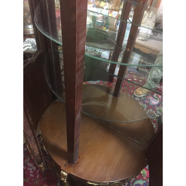 Louis XV Style Vitrine Rosewood Double Door With Ormolou For Sale In San Francisco - Image 6 of 11