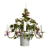 Image of 1950s Italian Flower Basket Chandelier For Sale