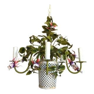 1950s Italian Flower Basket Chandelier For Sale