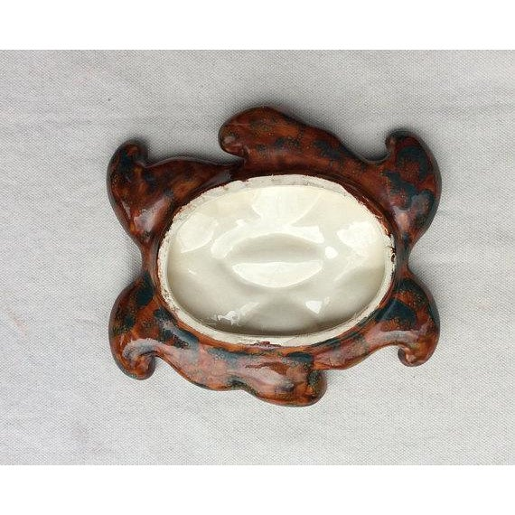 Vallauris French Vallauris Earthenware Oyster Plate For Sale - Image 4 of 6