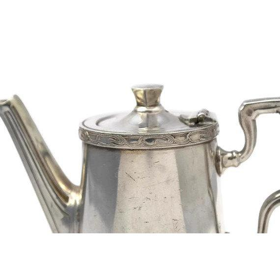 Engraving 20th Century Art Deco Ercuis Silver Orient Express Coffee Pot For Sale - Image 7 of 9