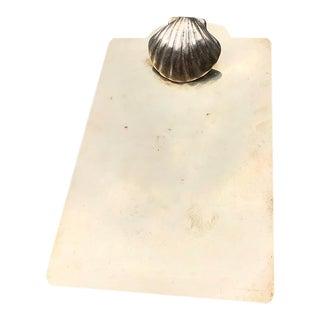 Art Deco Brass Seashell Motif Clipboard For Sale