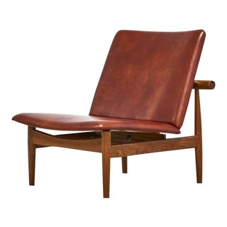 FINN JUHL FOR FRANCE & SONS JAPAN CHAIR, MODEL 137 IN LEATHER, 1950S