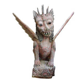 Antique Carved Garuda For Sale