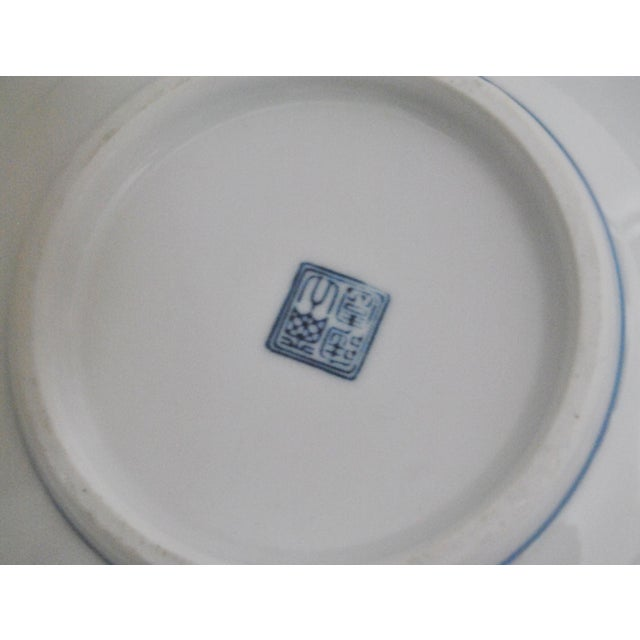 1990s Mikawachi Blue White Ramen and Tea Bowls - Set of 4 For Sale - Image 5 of 7