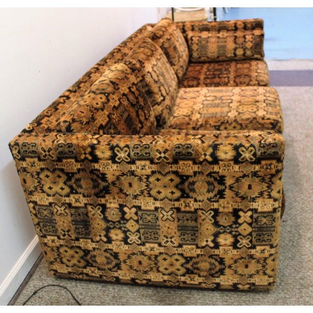 Mid Century Milo Baughman Forecast Furniture Sofa - Image 10 of 11