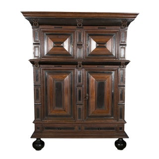 Large Late 17th Century Oak Dutch Kast or Armoire For Sale