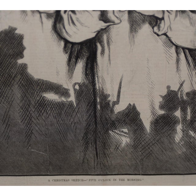 "White Thomas Nast ""A Christmas Sketch"" for Harpers Weekly C.1878 For Sale - Image 8 of 10"