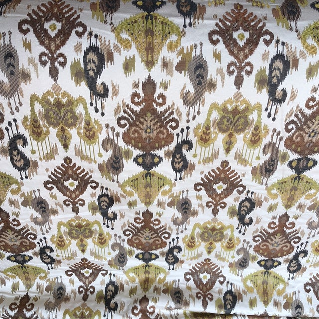 Ikat Woven Fabric - 7 Yards For Sale - Image 5 of 5