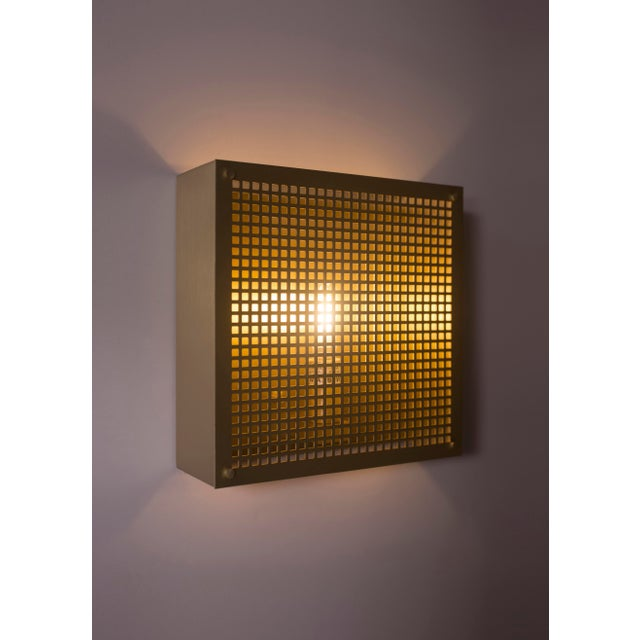 Modern Contemporary 000 Sconce in Brass by Orphan Work For Sale In New York - Image 6 of 8