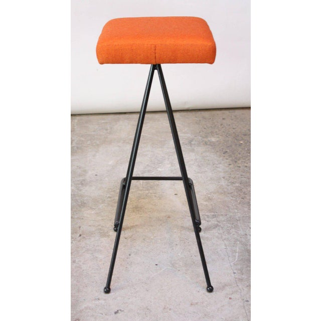 Metal Set of Four Adrian Pearsall #11 Iron Barstools For Sale - Image 7 of 11