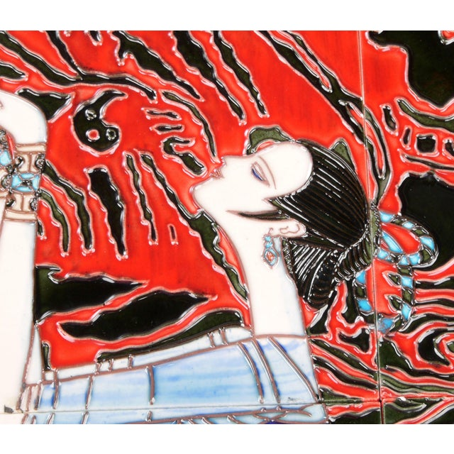Geisha Tile Wall Art Plaque For Sale In Miami - Image 6 of 9