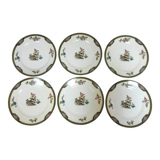 "Japanese Noritake Porcelain Salad Dishes in ""Pheasant"" Pattern Circa 1920s - Set of 6 For Sale"