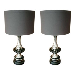 Two Mercury Glass Lamps, Priced Per Lamp For Sale