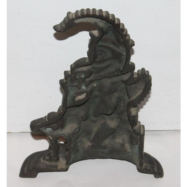 """Late 19th Century Bronze """"Punch"""" Door Stop - Image 5 of 7"""