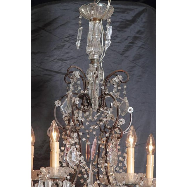 19th Century Italian 18-Light Crystal Chandelier - Image 4 of 10
