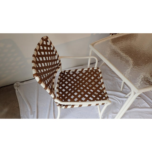 Tropitone Brown & White Outdoor Patio Set - Set of 5 - Image 10 of 11
