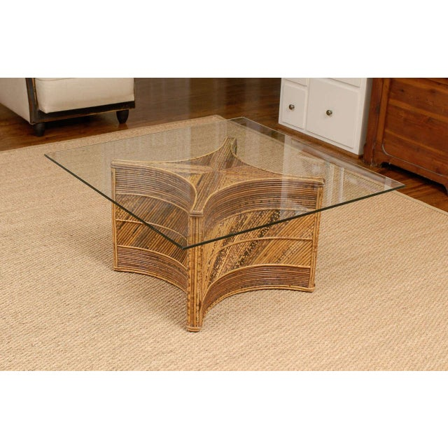 Elegant Vintage Bamboo Coffee Table For Sale - Image 10 of 11