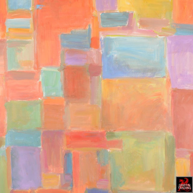 Urban Mosaic Signed Original Painting For Sale - Image 4 of 6