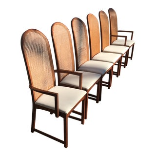 Set of 6 Milo Baughman High Back Chairs for Directional For Sale