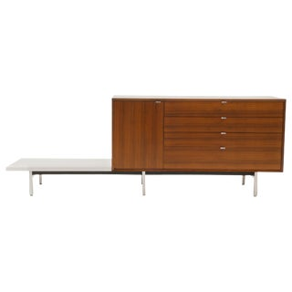 George Nelson Dresser/Storage Cabinet on Modular Group Platform, Rare Version For Sale