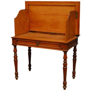 19th Century English Desk with Folding Privacy Walls For Sale