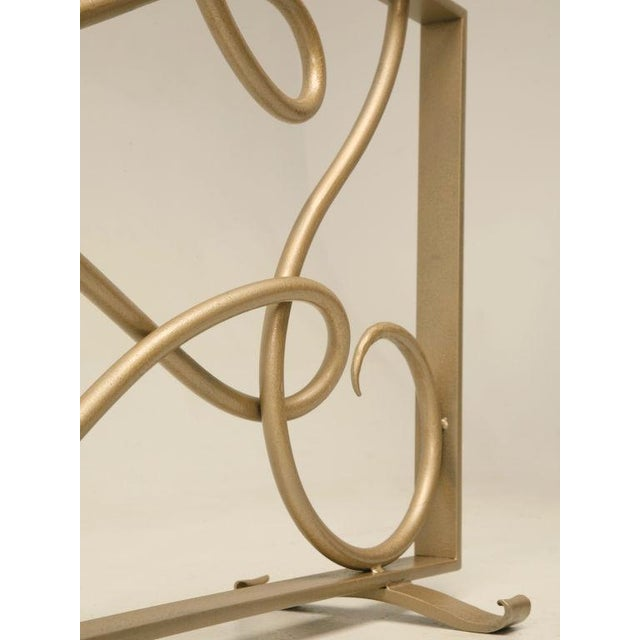 Gold Fire Screen in the Style of Rene Drouet For Sale - Image 8 of 9