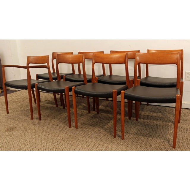 Niels Otto Møller Danish Modern Niels Moller #77 Teak Dining Chairs - Set of 8 For Sale - Image 4 of 11