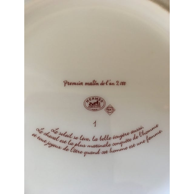 Vintage Hermès 6-Piece Dinner Plate Set For Sale - Image 10 of 10