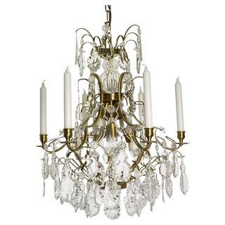 Vintage used baroque chandeliers chairish baroque chandelier 6 cognac pendeloque aloadofball Images