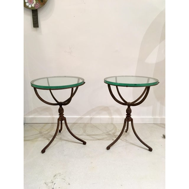 20th Century Shabby Chic Iron Accent Tables - a Pair For Sale - Image 4 of 10