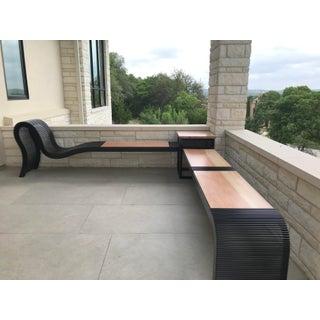 Modern Steel & Spalted Pecan Custom Bench Preview