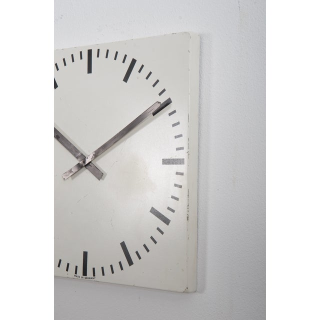 Large Industrial Factory or Stration Clock For Sale - Image 4 of 6
