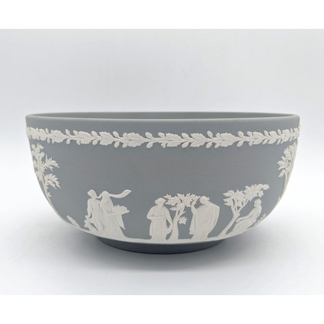 20th Century Wedgwood Jasperware Gray and White Bowl For Sale - Image 10 of 10