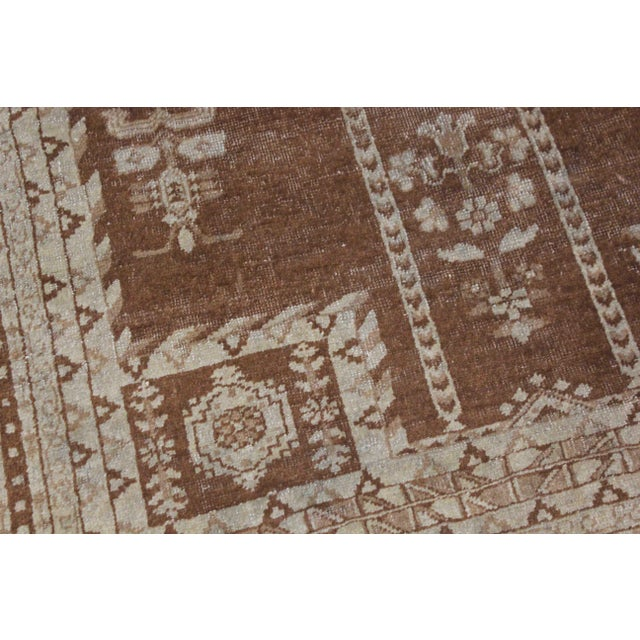 This stunning antique Indian Agra rug was hand knotted in 1880's in Iran. Knotted with 75% wool and 25% cotton, dyed with...