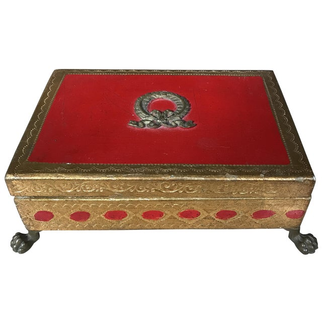 Italian Gilt Footed Trinket Box - Image 1 of 5