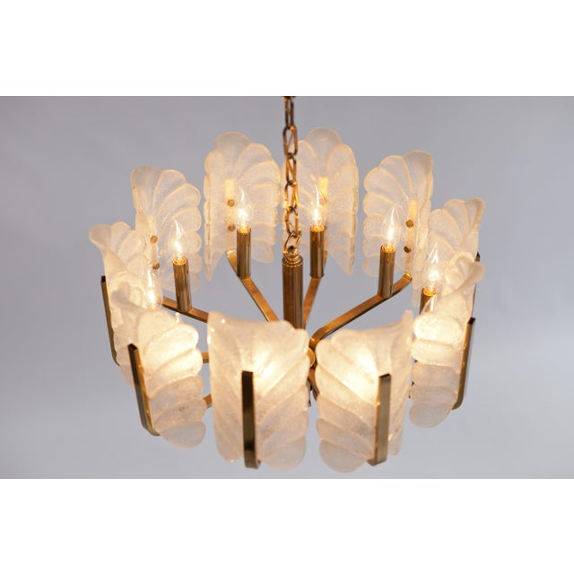 Barovier toso murano glass acanthus leaf chandelier chairish hollywood regency barovier toso murano glass acanthus leaf chandelier for sale image 3 of aloadofball Choice Image