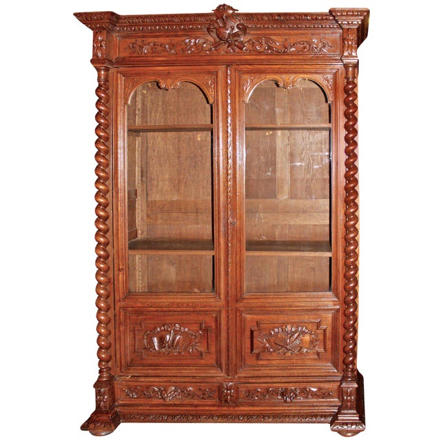 first rate a6a96 9db80 Early 20th Century French Glass Front Bookcase