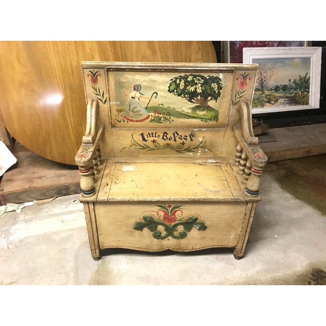 Mid 19th Century Children's Bo Peep Bench For Sale In New York - Image 6 of 6