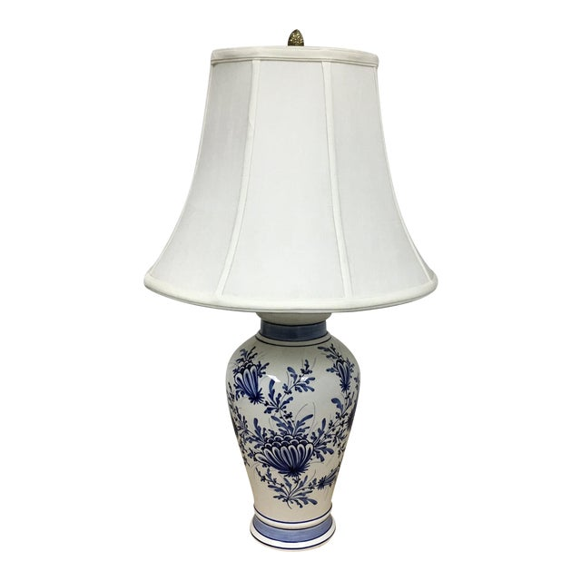 Eximious of London Blue & White Hand Painted Table Lamp - Image 1 of 9