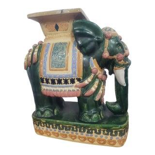 Vintage Ceramic Garden Elephant For Sale