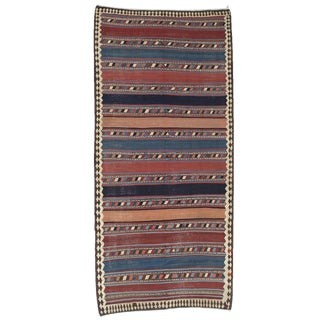Antique Shahsavan Kilim For Sale