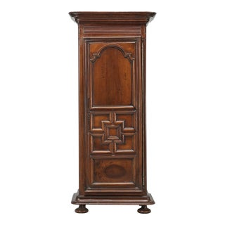 19th Century French Louis XIII Style Walnut Bonnetière or Armoire For Sale