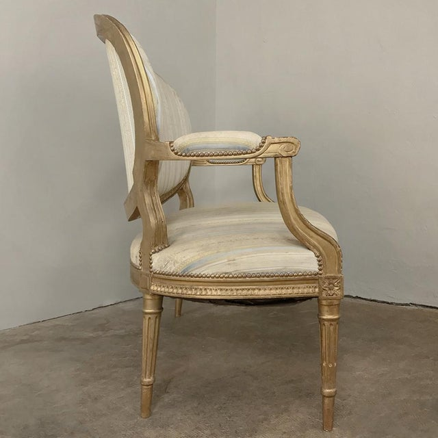 Late 19th Century 19th Century French Louis XVI Giltwood Sofa For Sale - Image 5 of 12